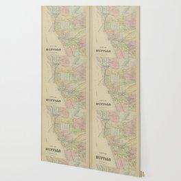 Vintage Map of Buffalo NY (1866) Wallpaper