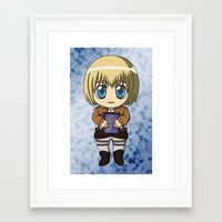 shingeki no kyojin Framed Art Prints featuring Shingeki no Kyojin - Chibi Armin by Tenki Incorporated