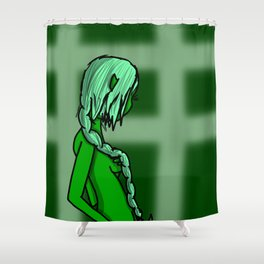Green | Veronica Nagorny Shower Curtain