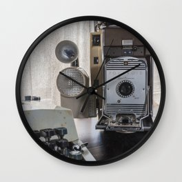 Polaroid antique flavor (sepia) Wall Clock