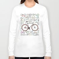 brompton Long Sleeve T-shirts featuring Love Fixie Road Bike by Wyatt Design