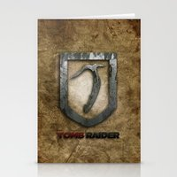 tomb raider Stationery Cards featuring Tomb Raider by Liquidsugar