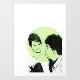 Pedro Almodovar and Penelope Cruz Art Print