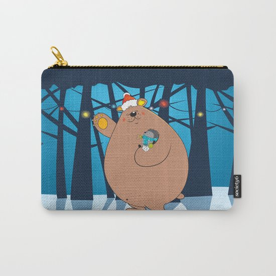 We wish you a Merry Christmas ! Carry-All Pouch