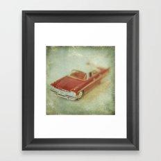 Vintage Red De Soto  Framed Art Print