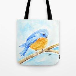 The Chubby Bluebird Tote Bag