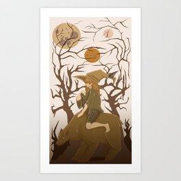 Bear Wizard Art Print