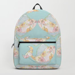 tropical watercolor fish Backpack