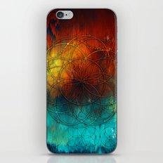 Planet Pixel Geometric Fire on Ice iPhone & iPod Skin