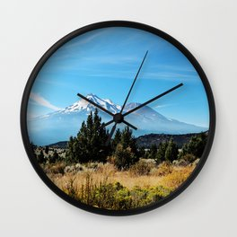 Mt. Shasta Wall Clock