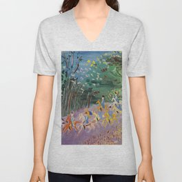 Jean Dufy Chasse a Courre Unisex V-Neck