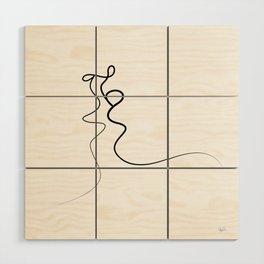 Kiss 2015 on white Wood Wall Art