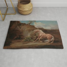 George Stubbs - Horse Frightened by a Lion Rug
