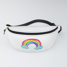 Rainbow With Clouds! Fanny Pack