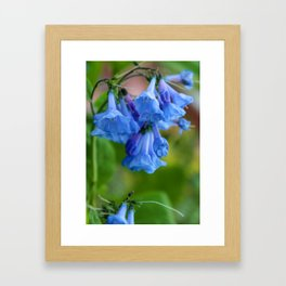 Pop of Blue Framed Art Print