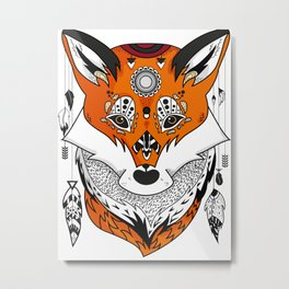 Fox Head Metal Print