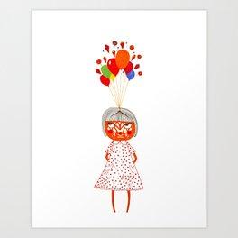 my dreams exploded Art Print