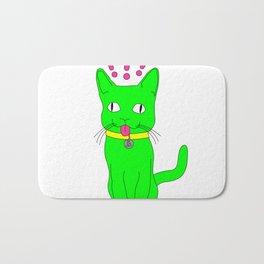 """Heckin Confused Derp Cat"", by Brock Springstead Bath Mat"