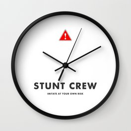 Stunt Crew Wall Clock