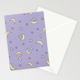 Purple Moon Anime  Stationery Cards