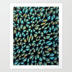 Blue Bloobly Art Print