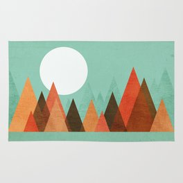 From the edge of the mountains Rug