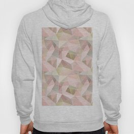 Broken glass in light pink tones. Hoody
