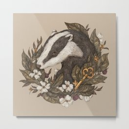 Badger Metal Print