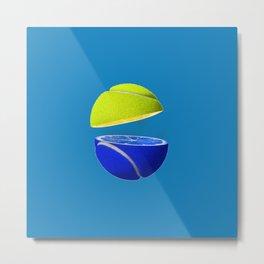 Tennis ball lemon Metal Print