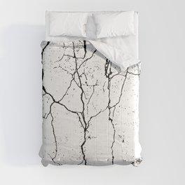 White Cracks Texture Comforters