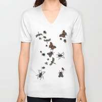 bugs V-neck T-shirts featuring BUGS by Rachael Powick