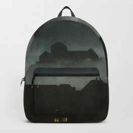 small town with castle Backpack