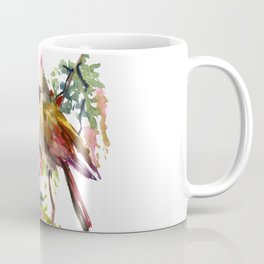 Cardinal Bird Earth Green Olive green Pink Coffee Mug