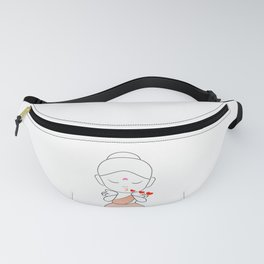 Little Buddha blowing kisses Fanny Pack
