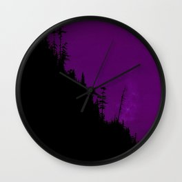 Into The Woods - Dark Forest - Violet Wall Clock