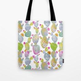 Blooming Spring Cacti Tote Bag