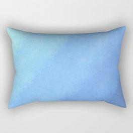 Ripple Effect - Textured Blue Ombre Rectangular Pillow
