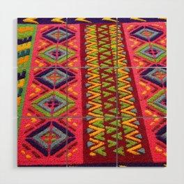 Colorful Guatemalan Alfombra Wood Wall Art