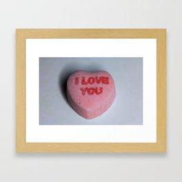 "Candy Heart ""I Love You"" Framed Art Print"