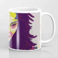 bjork Mugs featuring Bjork by mr. michael temple