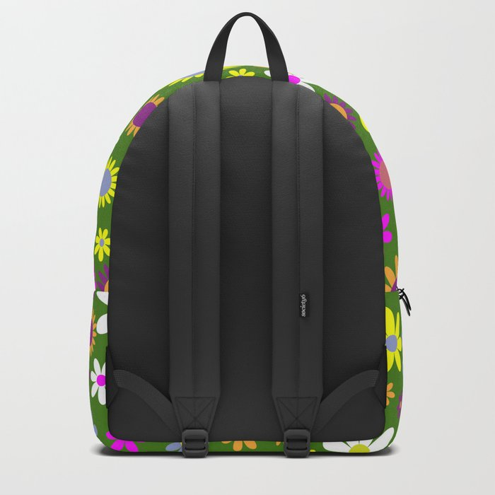 Multicolored Flower Garden Pattern Backpack