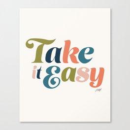 Take it Easy (Multi Color Palette) Canvas Print