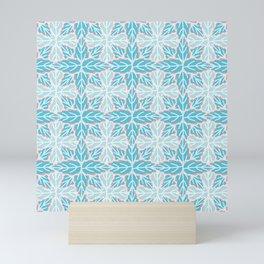 Winter Foliage Grid Pattern Mini Art Print