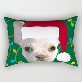 French Bulldog Santa Rectangular Pillow
