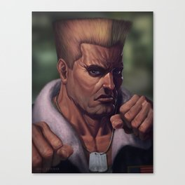 Street Fighter-Guile Canvas Print