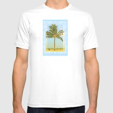 Lone Palm Mens Fitted Tee White MEDIUM