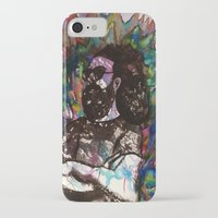 grateful dead iPhone & iPod Cases featuring Jerry Garcia Watercolor Portrait Grateful Dead by Acorn
