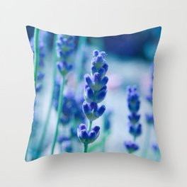 A Touch of blue - Lavender #1 Throw Pillow