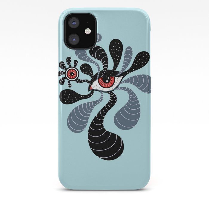Abstract Surreal Double Red Eye iPhone Case