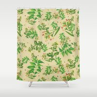 cigarettes Shower Curtains featuring Coffee and Cigarettes by uhohreilly